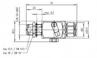 Грозоразрядное устройство с газовой капсулой, с креплением на панель, гнездо-штекер, N, 50 Ом, IP67, 230 Вольт, 2.6 ГГц, вес 185 г.