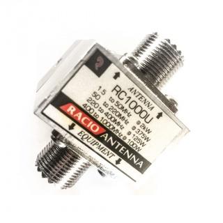RC1000 Грозоразрядник Racio,  0-1000 МГц, с разъемами UHF или N-type