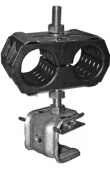 UCC/ 2x9 Крепление многоярусное для 2-x кабелей Ø8-9 мм